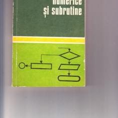 Metode Numerice si Subrutine,M.Toma