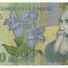 ROMANIA, 10000 LEI 2000 circulata_polimer, Isarescu_serie 015D7171376