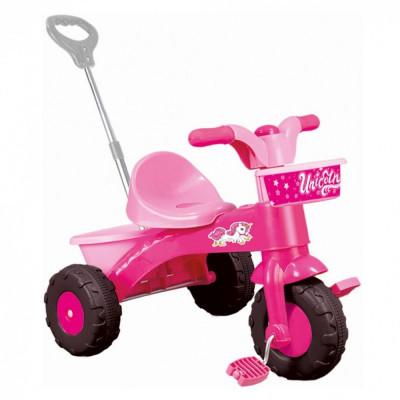 Prima mea tricicleta roz cu maner - Unicorn foto