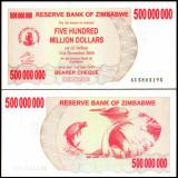 Zimbabwe 2008 - 500.000.000 dollars UNC