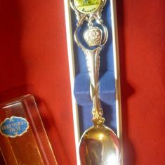 Lingurita de Colectie inscriptionata Bavaria Freistaat  ,L=11cm,placata argint