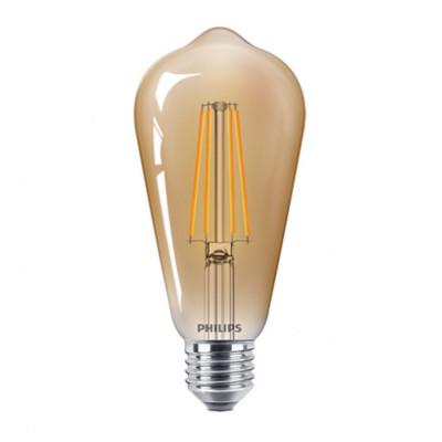 Bec LED Filament Philips 5.5W(48W) E27 ST64 600 lm 2500K Vintage Gold foto