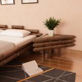 Mese de noptieră, 2 buc., maro închis, 60x60x40 cm, bambus