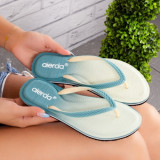 Papuci dama de plaja verzi Hindema