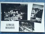 446 - Slanicul Moldovei / Slanic Moldova, mozaic/ carte postala RPR circulata, Necirculata, Fotografie