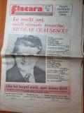 Flacara 23 ianuarie 1987-ziua de nastere a lui ceausescu,tot ziarul cu ceausescu