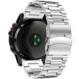 Cumpara ieftin Curea ceas Smartwatch Garmin Fenix 3 / Fenix 5X, 26 mm Otel inoxidabil iUni Silver