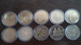 Colectie 50 bani aniverseri (2010-2019) UNC