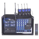 Statie 4 microfoane tip casca UHF