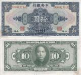 1928 , 10 dollars ( P-197h ) - China - stare XF+++