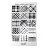 Matrita pentru unghii Konad Square Image Plate 13, Argintiu