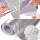 Tapet autoadezivArgintiu din aluminiu , 60cmx300cm