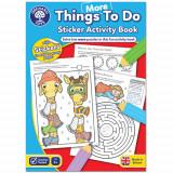 Carte de Colorat cu Activitati in Limba Engleza si Abtibilduri Mai Multe Lucruri de Facut, orchard toys