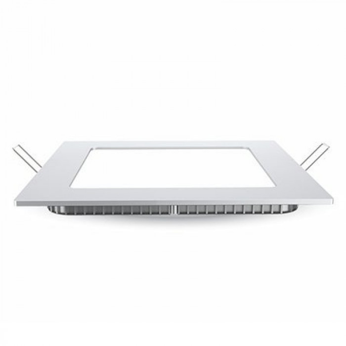 Aplica LED patrata incorporabila, 12 W, temperatura culoare alb neutru