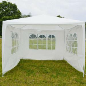 Cort de gradina pentru party, alb, 3x3 m, TEKNO TYP 1