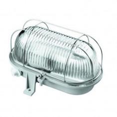 Lampa de perete 60W E27, exterior, grilaj metalic, gri, IP44, 220V