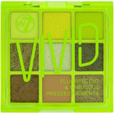 Cumpara ieftin Paleta Profesionala de Farduri W7 Vivid Pressed Pigment Palette Glowin Green, 9 culori, 9 g