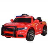 Masinuta electrica de Pompieri cu sirena, girofar si megafon, rosu