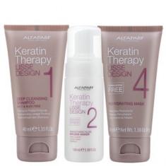 Alfaparf Milano Lisse Design Keratin Therapy set pentru indreptarea părului 40 ml + 100 ml + 40 ml