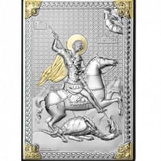 Icoana Argint Sfantul Gheorghe Biruitorul 9x13cm Cod Produs 2782