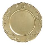 Platou plastic auriu antichizat 33 cm