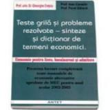 Teste grila si probleme rezolvate. Sinteze si dictionar de termeni economici. Economie pentru liceu, bacalaureat si admitere - Gheorghe Cretoiu