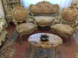 Salonas/salon/canapea cu fotolii rococ/baroc venetian/francez/Ludovic/castel, Sufragerii si mobilier salon, Rococo, 1800 - 1899