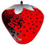 Covor copilăresc Happy C298 Capsuni roșu, 80x80 cm