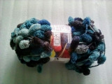 Fire tricotat / crosetat Gnocchi albastru in degradee