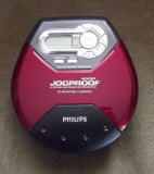 CD PLAYER PORTABIL PHILIPS 45 EXP JOGPROOF + ADAPTOR CASETA AUDIO