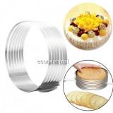 Inel Feliator Blat de Tort Ajustabil Cake Ring 8.5cm 16-20cm S