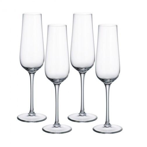 Pahar sticla cristalizata sampanie 0.27 l purismo, cod 224209
