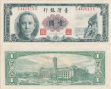 1973 ( 1 VI ) , 1 new taiwan dollar ( P-1971b ) - Taiwan - stare aUNC