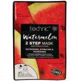 Cumpara ieftin Masca cu pepene, Vitamina E B5, TECHNIC Watermelon, 2 Pasi, 1.5 g x 23 g