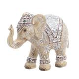 Elefant decor din rasina Antique Beige 22 cm x 18 cm