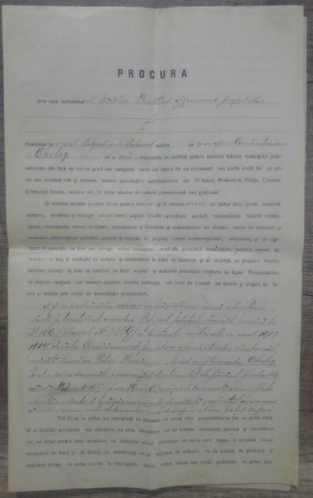 Procura de imputernicire// Bolgrad 1923