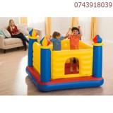 Spatiu joaca gonflabil copii Intex Castle Bouncer, 175 x 175 x 135 cm, Unisex, Multicolor