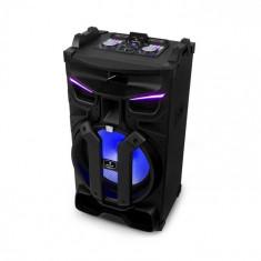 """Auna Silhouettes, sistem de sunet pentru petreceri, difuzor de 18"""", USB, SD, BT, 600 W, negru"""