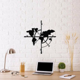 Cumpara ieftin Decoratiune pentru perete, Ocean, metal 100 procente, 48 x 50 cm, 874OCN1001, Negru