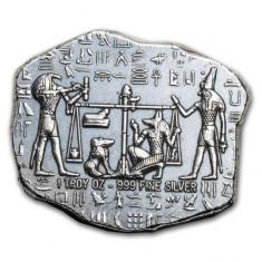 Moneda lingou argint 999 , Relicva egipteana Anubis 1 uncie = 31 grame