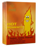 Prezervative AMOR Hot Moments / 3 buc