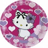 Farfurii petrecere copii 23 cm Charmmy Kitty, Amscan 552184, Set 8 buc