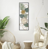 Cumpara ieftin Decoratiune metalica de perete Campur-A Multicolor, l31xA4xH90 cm