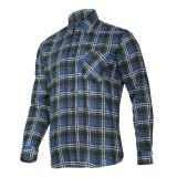 Camasa flanel Lahti Pro, model carouri, marimea S, albastru