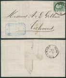Belgium 1879 Postal History Rare Cover + Content Dinant Tirlemont DB.522