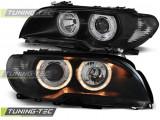 Faruri compatibile cu BMW Seria 3 E46 03-06 COUPE Angel Eyes Negru