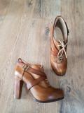 Superbe botine Timberland Boot Company premium model retro deosebit piele 37,5, Camel, Piele naturala