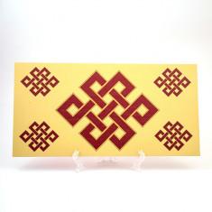 Placheta ( placa ) cu nod mistic pe lemn