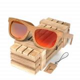 Ochelari de soare din lemn Bobo Bird BG003, lentila portocaliu Wooden Lux