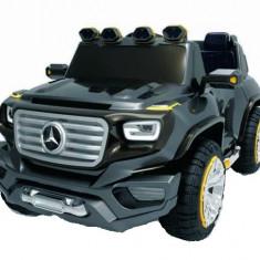 Masinuta electrica Mercedes G-Force 12V Scaun tapitat #Negru